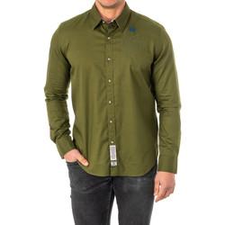 textil Hombre camisas manga larga La Martina Camisa M/Larga Verde