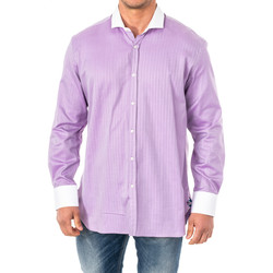 textil Hombre Camisas manga larga La Martina Camisa M/Larga Violeta