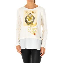 textil Mujer Camisetas manga larga La Martina Camiseta Manga Larga Blanco