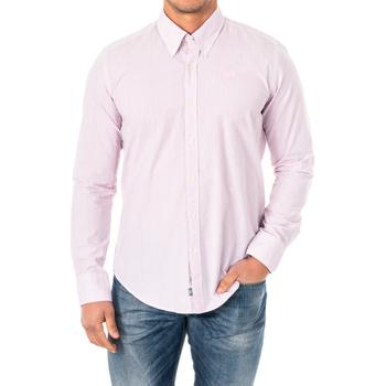 textil Hombre Camisas manga larga La Martina Camisa M/Larga Rosa