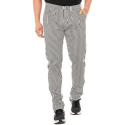 textil Hombre Pantalones fluidos La Martina Pantalón corte chino Blanco-negro