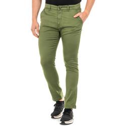 textil Hombre Pantalones chinos La Martina Pantalón corte chino Verde