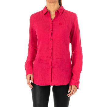 textil Mujer camisas La Martina Camisa manga larga Rosa