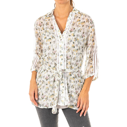 textil Mujer camisas La Martina Camisa manga 3/4 Beige-multicolor