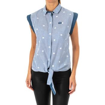 textil Mujer Camisas La Martina Camisa sin mangas Azul