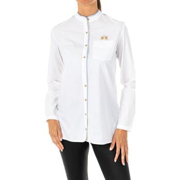 textil Mujer Camisas La Martina Camisa manga larga Blanco