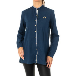 textil Mujer camisas La Martina Camisa manga larga Azul marino