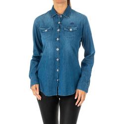 textil Mujer camisas La Martina Camisa manga larga Azul