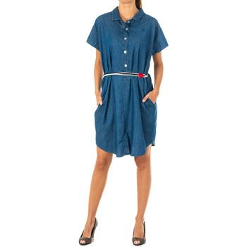 textil Mujer Vestidos cortos La Martina Vestido tejano Azul