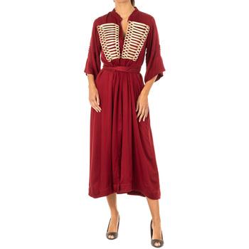 textil Mujer vestidos largos La Martina Vestido Granate