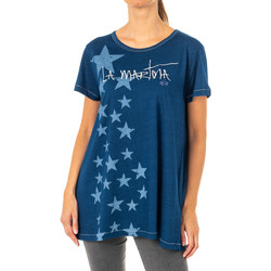 textil Mujer Camisetas manga corta La Martina Camiseta Manga Corta Azul