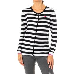 textil Mujer Chaquetas de punto La Martina Chaqueta de punto Blanco-negro