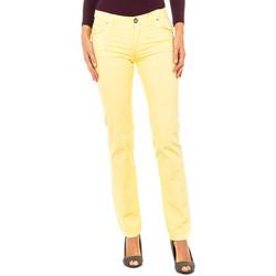 textil Mujer pantalones con 5 bolsillos La Martina Pantalón Stretch Amarillo
