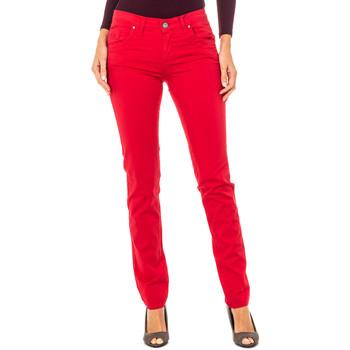 textil Mujer pantalones con 5 bolsillos La Martina Pantalón Stretch Rojo