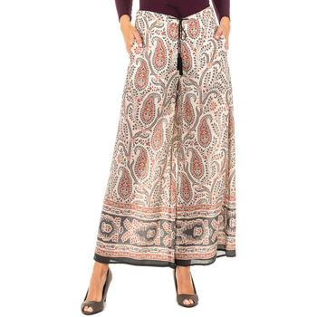 textil Mujer Pantalones fluidos La Martina Pantalón ancho Beige-multicolor