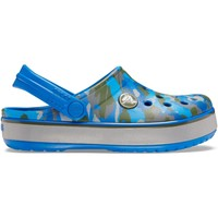 Zapatos Niños Zuecos (Clogs) Crocs™ Crocs™ Crocband Camo Reflect Band Clog Kid's Bright Cobalt