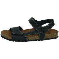 Zapatos Hombre Sandalias Interbios 2 velcros NEGRO