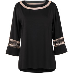 textil Mujer Túnicas Lisca de manga larga Sueño Lujo Pearl Black
