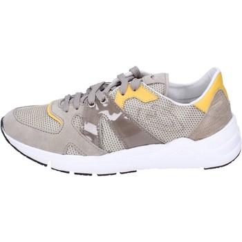 Zapatos Hombre Zapatillas bajas Guardiani sneakers textil gamuza beige