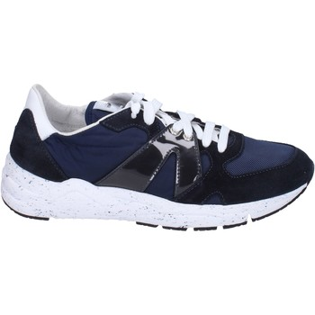Zapatos Hombre Zapatillas bajas Guardiani sneakers textil gamuza azul