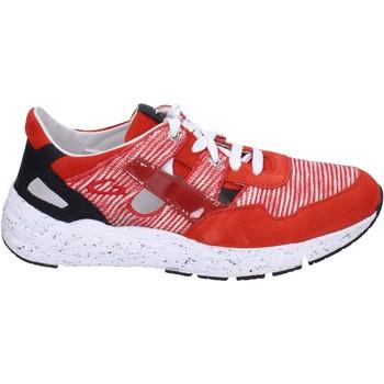 Zapatos Hombre Zapatillas bajas Guardiani sneakers textil gamuza rojo
