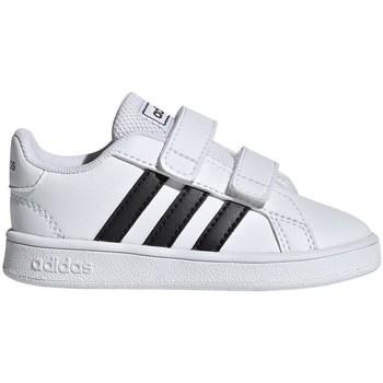 Zapatos Niños Zapatillas bajas adidas Originals Grand Court I Blanco