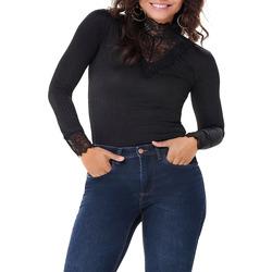 textil Mujer Camisetas manga larga Jacqueline De Yong  Negro