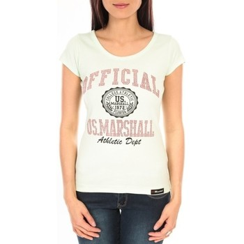 textil Mujer Camisetas manga corta Sweet Company T-shirt US Marshall vert clair F.T110 Verde