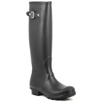 Zapatos Mujer Botas de agua Moda Italiana BOB negro Noir