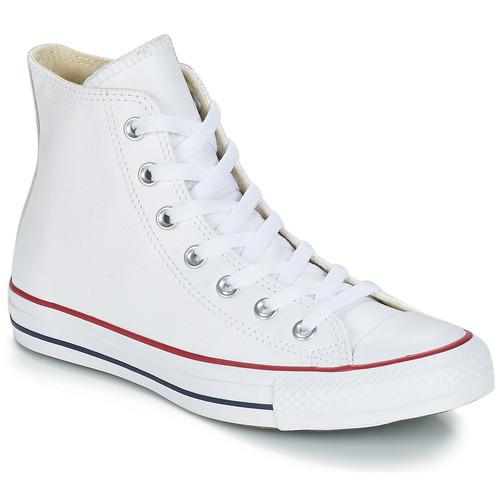 Zapatos Zapatillas altas Converse Chuck Taylor All Star CORE LEATHER HI Blanco