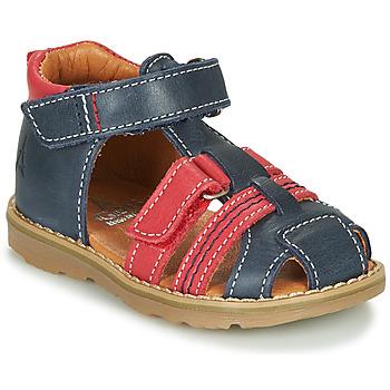 Zapatos Niño Sandalias GBB MACARON Marino / Rojo