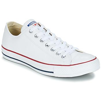 Zapatos Zapatillas altas Converse Chuck Taylor All Star CORE LEATHER OX Blanco