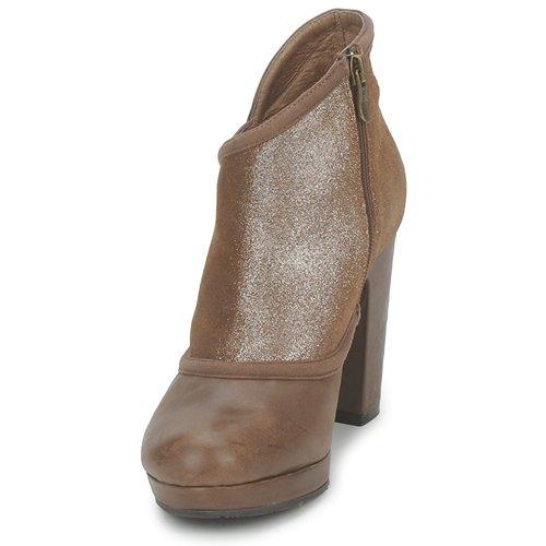 Mujer Zapatos Low Tilly Esska Boots MarrónBrillantina 354RLqAj
