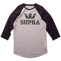 textil Hombre Camisetas manga larga Supra  Gris