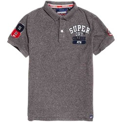 textil Hombre polos manga corta Superdry CLASSIC SUPERSTATE PIQUE POLO Gris