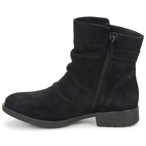 Mujer De Casual Negro Caña Baja Botas Zapatos Attitude Rijones UzVqSMpLG