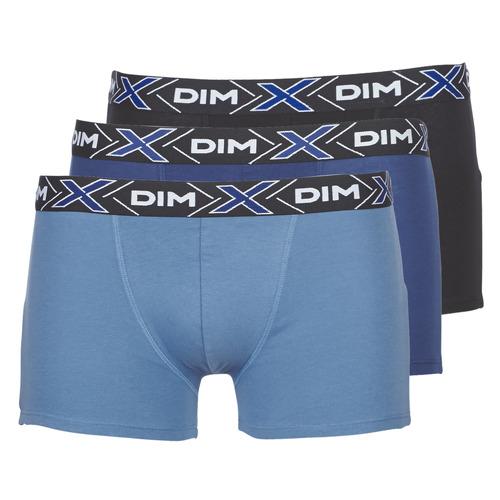 DIM X-TEMP BOXER x3 Azul / Marino / Negro - Envío gratis | ! - Ropa interior Boxer Hombre