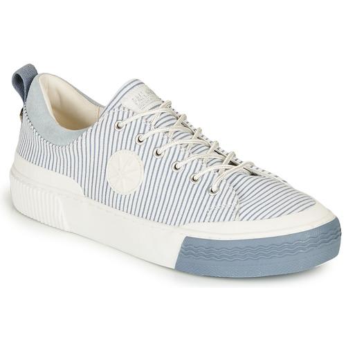 Zapatos Mujer Zapatillas bajas Palladium STUDIO 02 TXT Blanco / Azul