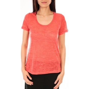 textil Mujer Camisetas manga corta By La Vitrine T-Shirt BLV07 Corail Naranja