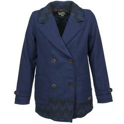 textil Mujer Abrigos Roxy MOONLIGHT JACKET Marino / Negro