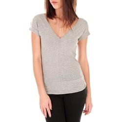 textil Mujer Camisetas manga corta By La Vitrine T-shirt dos cache coeur 017 Gris Gris