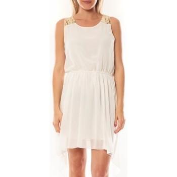 textil Mujer Vestidos cortos Tcqb Robe NF 702 Blanc Blanco