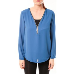 textil Mujer Tops / Blusas Vera & Lucy Chemisier Simple Bleu Azul