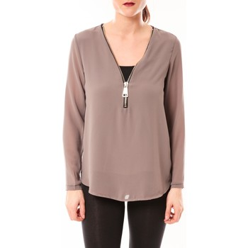 textil Mujer Tops / Blusas Vera & Lucy Chemisier Simple Marron Marrón