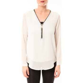 textil Mujer Tops / Blusas Vera & Lucy Chemisier Simple Blanc Blanco