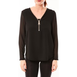 textil Mujer Tops / Blusas Vera & Lucy Chemisier Simple Noir Negro