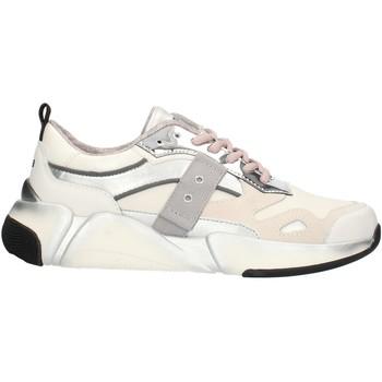 Zapatos Mujer Zapatillas bajas Blauer 9FMONROE01 Blanco y plata