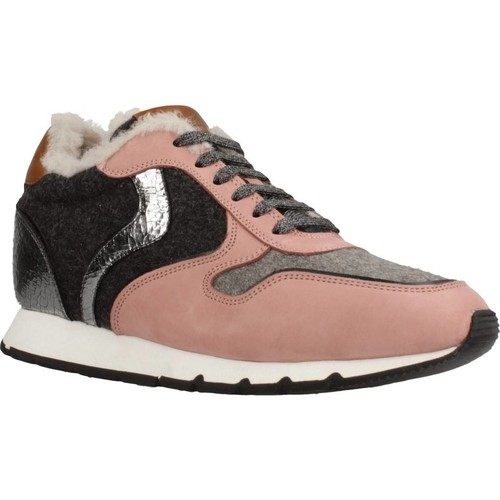 Zapatos Mujer Zapatillas bajas Voile Blanche JULIA SLAM FUR NABUK Rosa