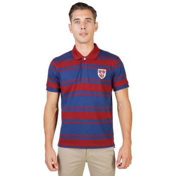 textil Hombre Polos manga corta Oxford University - queens-rugby-mm Rojo