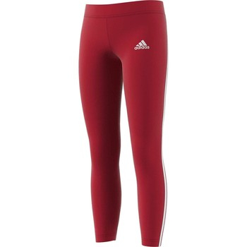 textil Niña leggings adidas Originals YG MH 3S TIGHT BORDEAUX Rojo